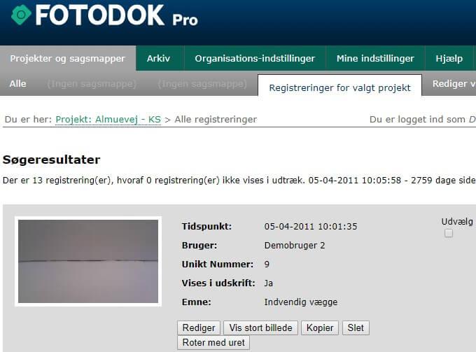 FotoDok - Du kan nu søge i fritekst